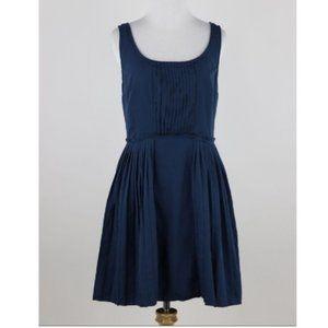 LC Lauren Conrad Navy Scoop Neck Pleated Dress